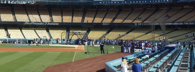 Dodgers batting practice