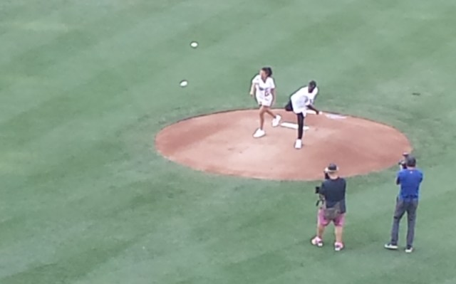 Celebrity First Pitch