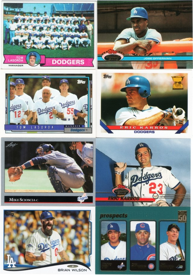 A few assorted horizontal cards ranging from 1979 to 2001