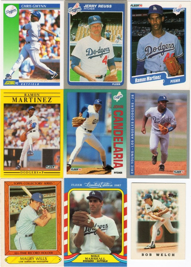 Assorted Score, Fleer, Topps cards