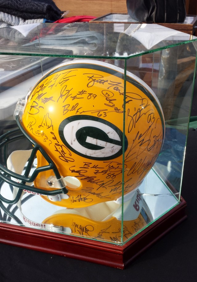 Packers helmet - left side