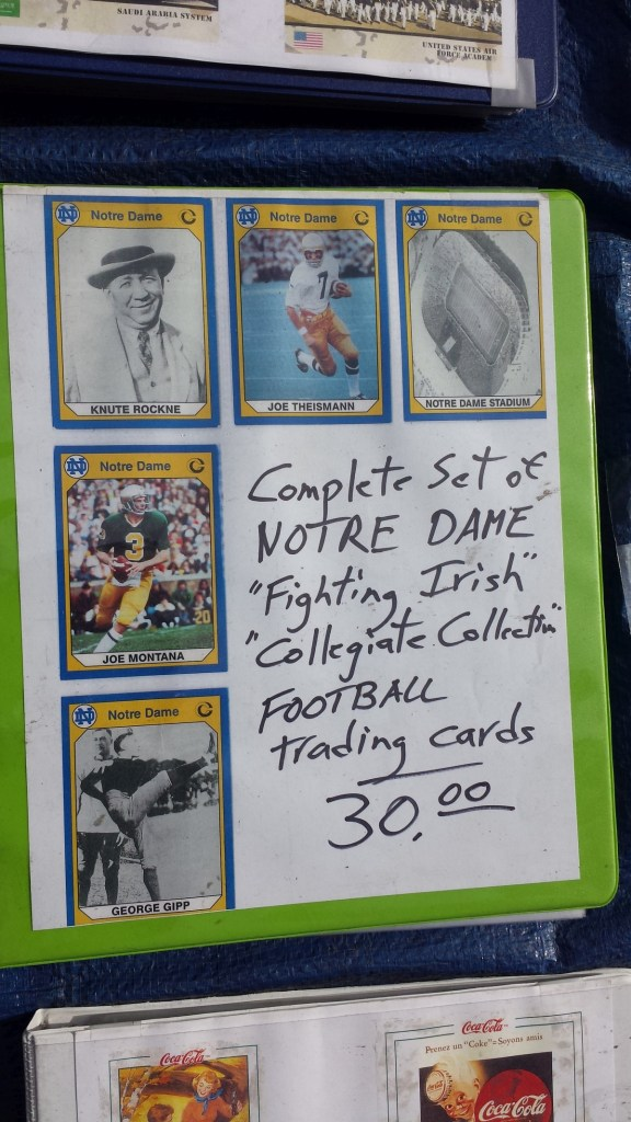 A binder of 1990 Collegiate Collection Notre Dame Football cards