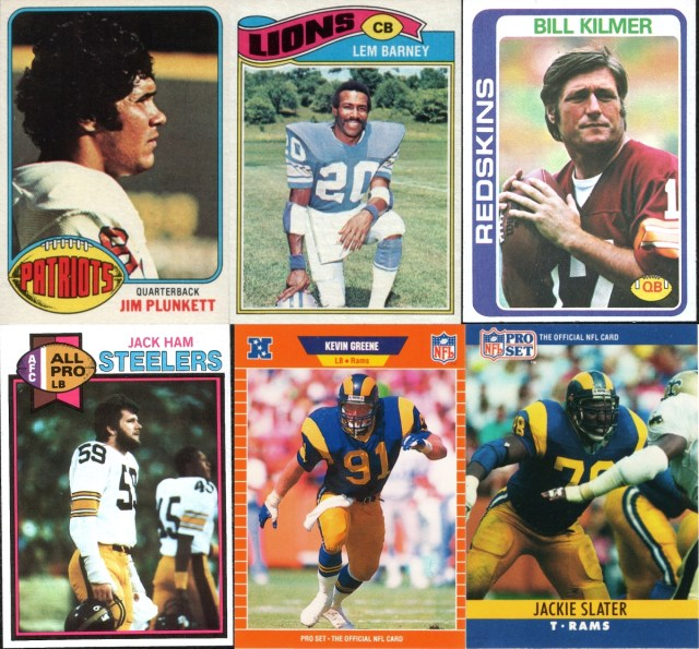 Assorted 1976-1979 Topps and 1989, 1990 Pro Set football cards