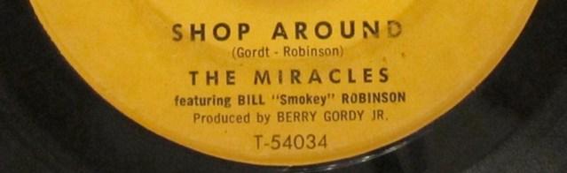 """Shop Around"" 7"" single label"