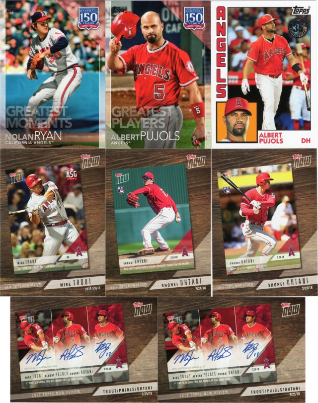 2019 Topps Series 1 Angels inserts