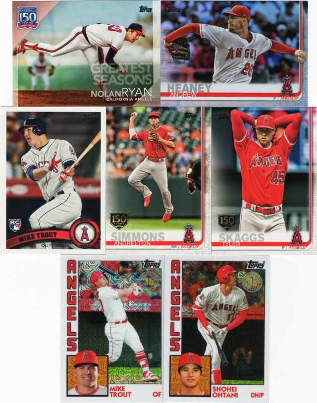 More 2019 Topps Series 1 Angels inserts with 1984 chrome cards