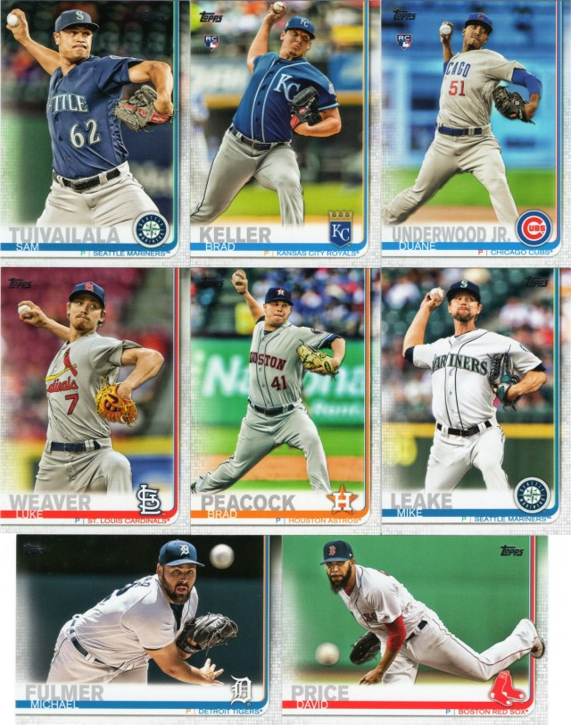 2019 Topps: Yet more pitchers in action