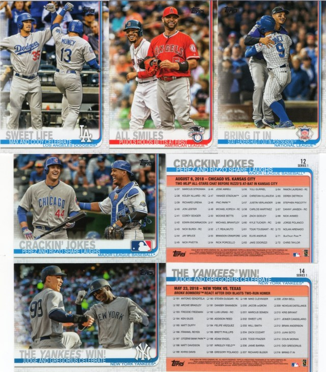 A sampling of 2019 Topps checklists