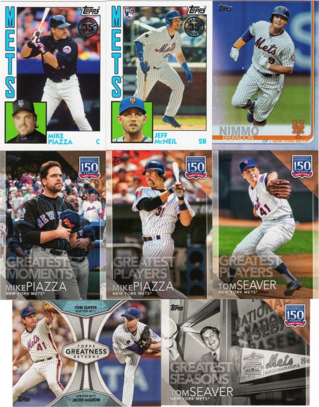 2019 Topps Series 1 Mets Inserts