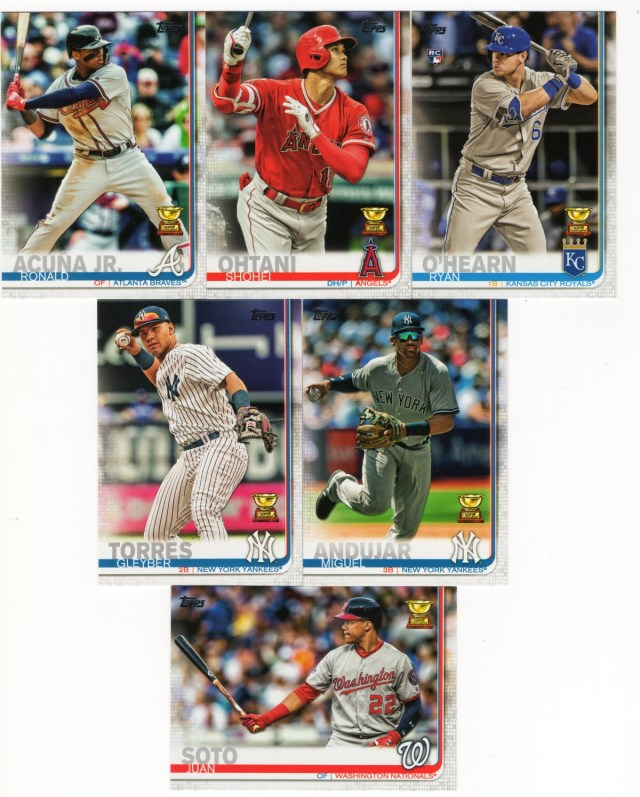 A sampling of 2019 Topps Rookie All-Stars