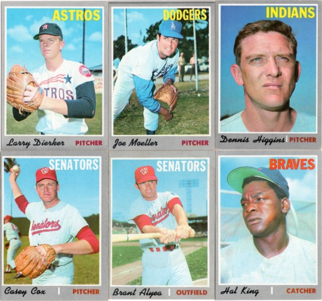 Some 1970 Topps (not Heritage) baseball cards