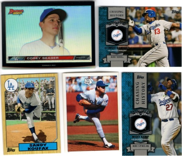 Yet more Dodgers cards and a sticker
