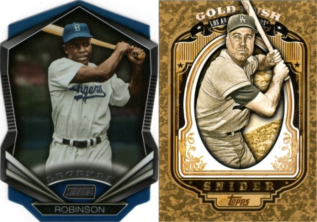 2015 Stadium Club Legends Die-Cuts #LDC-03 and 2012 Topps Gold Rush #55