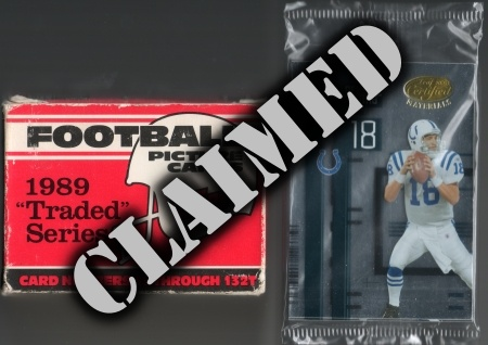 Football Prize Lot #2- Claimed