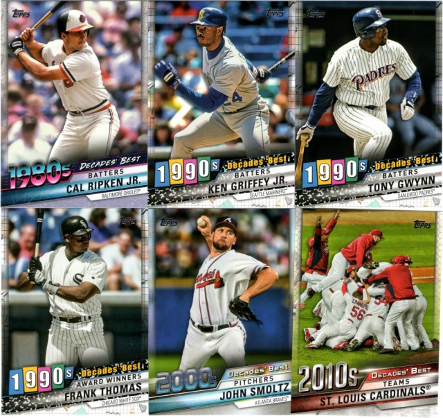2010 Topps Series 1 Decades Best insert cards
