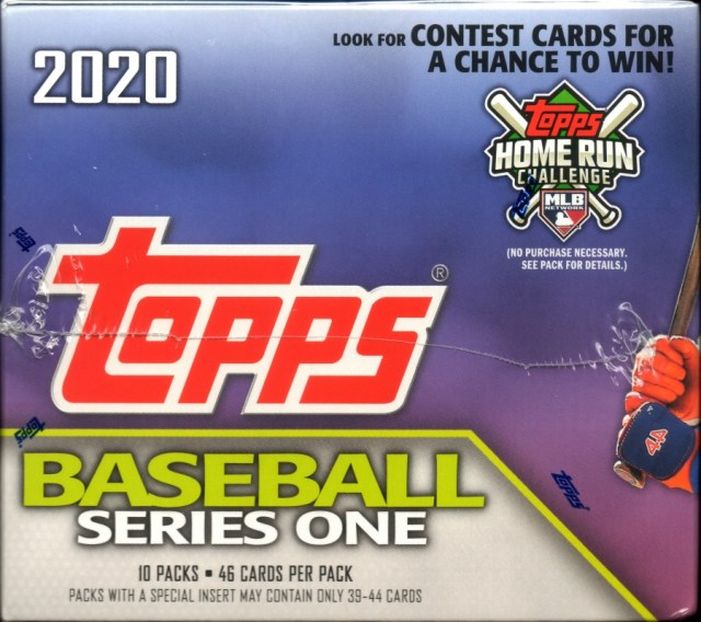 2020 Topps Series 1 Jumbo Box - Side view