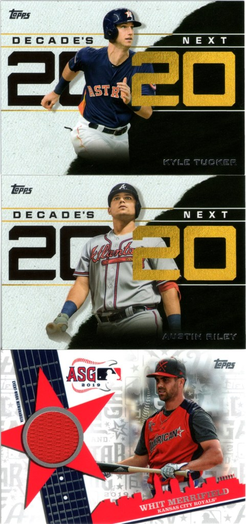 2020 Topps Decades' Next #DN-14, #DN-2, 2019 Topps Update All-Star Stitches Relics #ASSR-WM