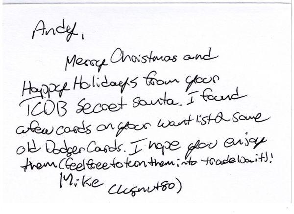 Note from Secret Santa 2020