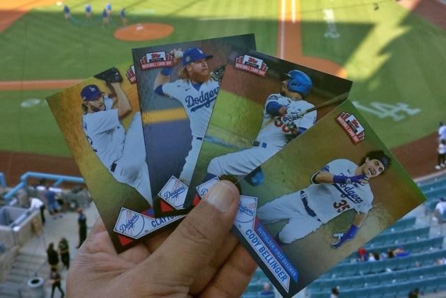 2021 Topps National Baseball Card Day Dodgers Team Set