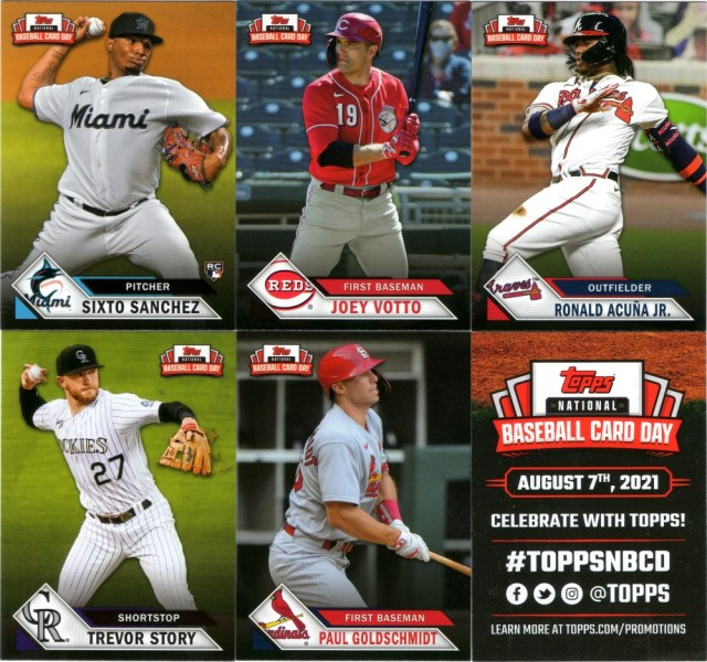 2021 Topps NBCD cards (pack 3)