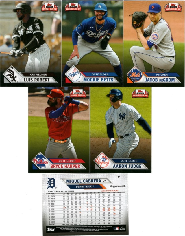 2021 Topps NBCD cards (pack 4)