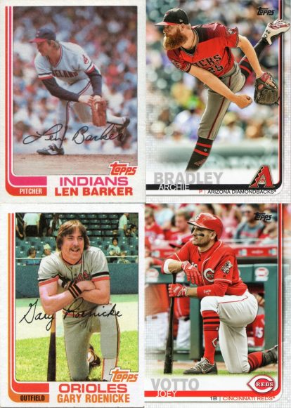 Comparison of 1982 Topps vs. 2019 Topps