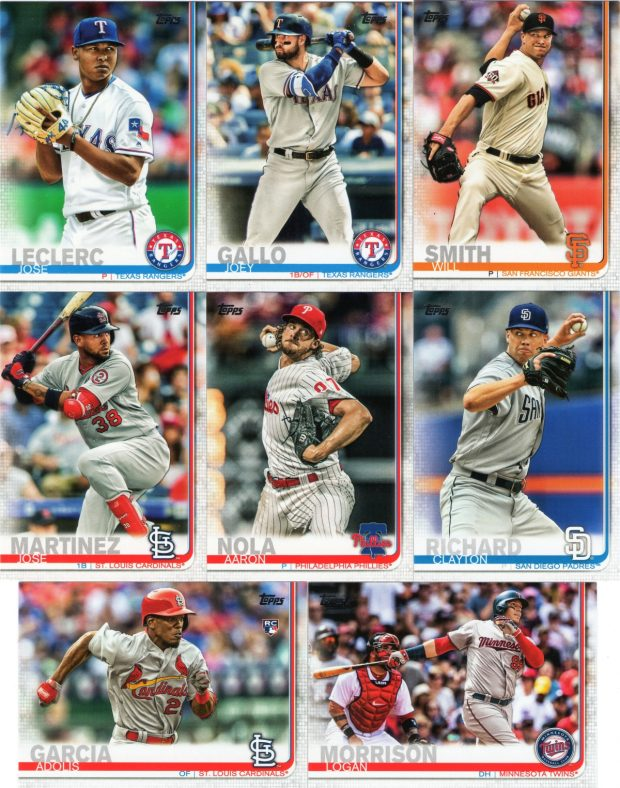 2019 Topps Series 1: Base cards