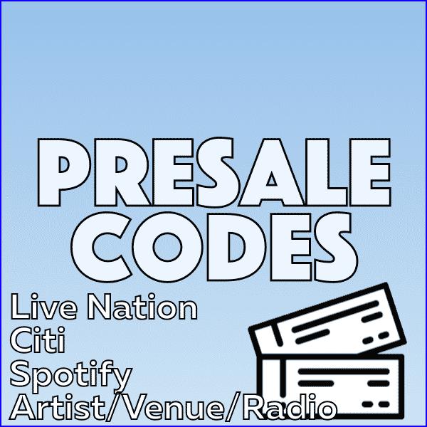 presale codes