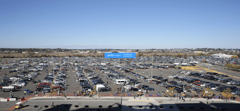 metlife stadium parking overview outside the stadium