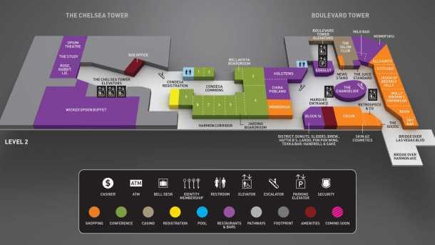 cosmopolitan level 2 resort map layout
