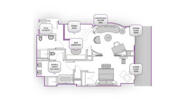 terrace suite layout in the cosmopolitan las vegas