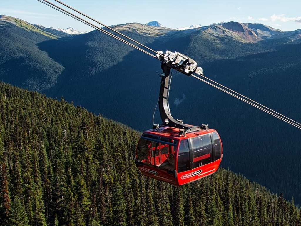 whistler gondala peak to peak