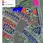 Karta över bebyggelsetyp i Rosengård 2030.
