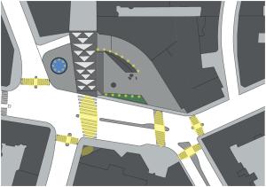 Ljusschema för det nya Triangeltorget.