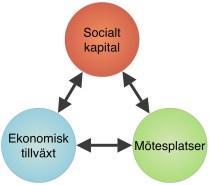 Enligt statsvetaren professor Robert D. Putnam kan ett högre socialt kapital leda till ekonomisk tillväxt. I den här artikeln undersöks hur kommunen jobbar med olika värden som kan öka socialt kapital på orten genom stadskärneutveckling.