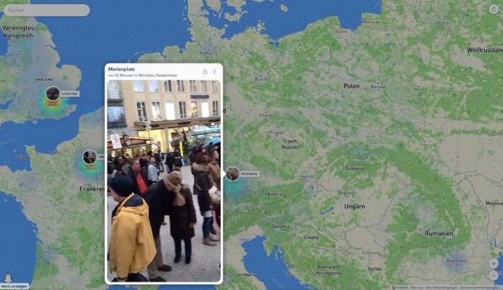 Snapchat Karte.Snapchats Snap Map Kann Jetzt Auch Im Browser Betrachtet Werden