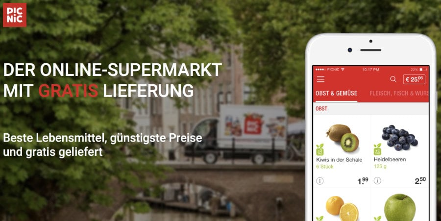 Konkurrenz für Amazon Fresh: Picnic startet Online-Supermarkt mit Gratislieferung in Deutschland