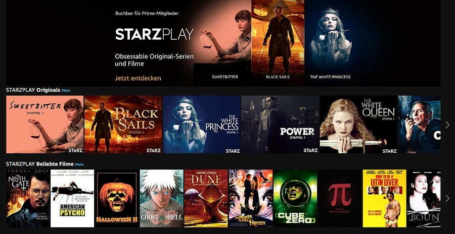 Amazon Prime Video Channels Ab Sofort Mit Starzplay
