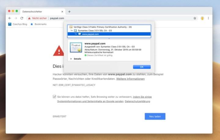 Zertifikate: Viele Webseiten werden als unsicher eingestuft