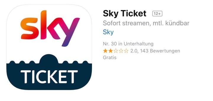 Sky Ticket Nutzer Haben Probleme Mit Neuer App