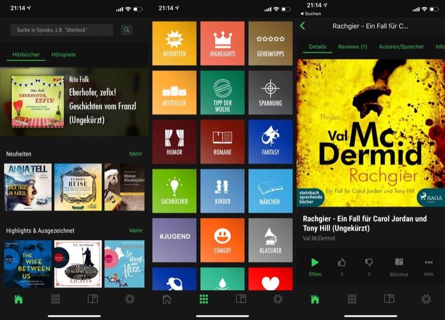 Spooks für iOS: Update liefert zahlreiche neue Funktionen für die Hörbuch-App