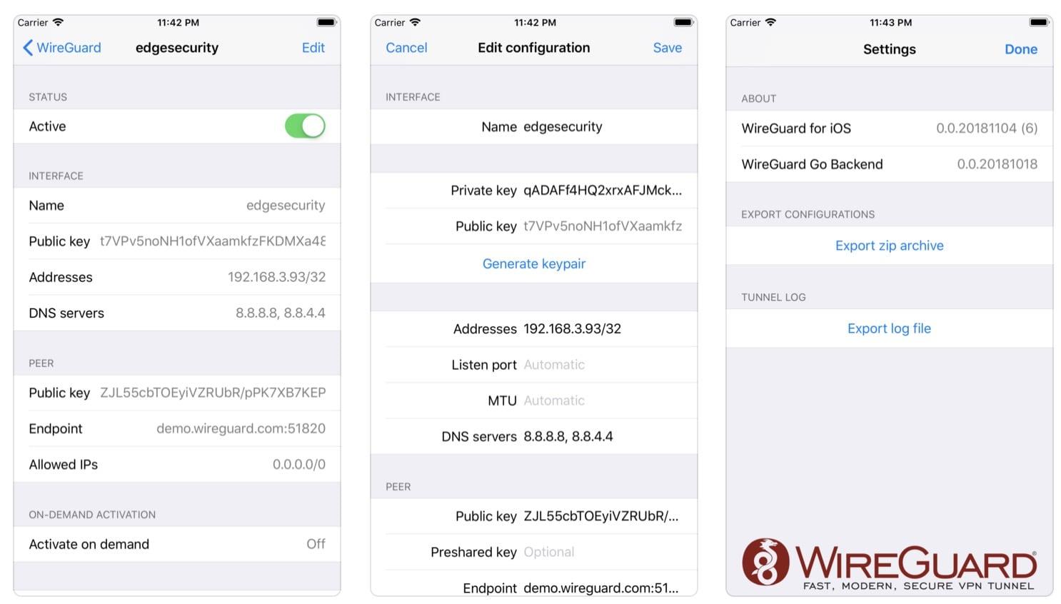 VPN: WireGuard für iOS erschienen