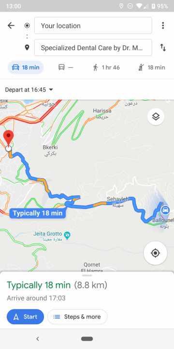 Google Maps: Abfahrts- und Ankunftszeiten für Autofahrten kommen