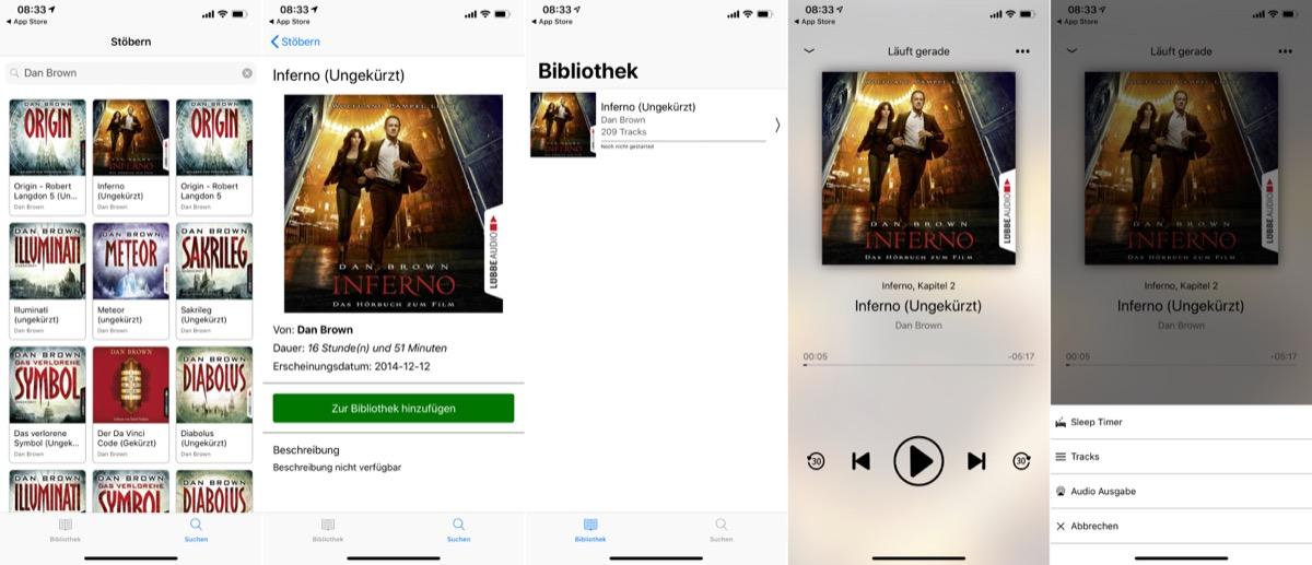 Spotify Hörbuch App