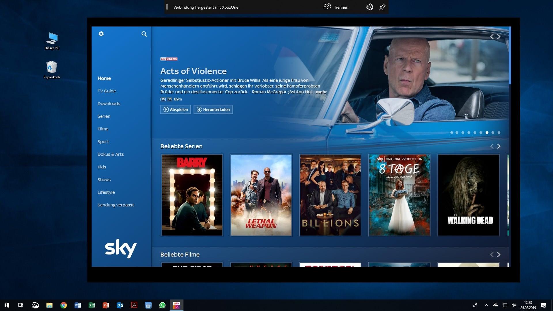 Sky Go Auf Xbox