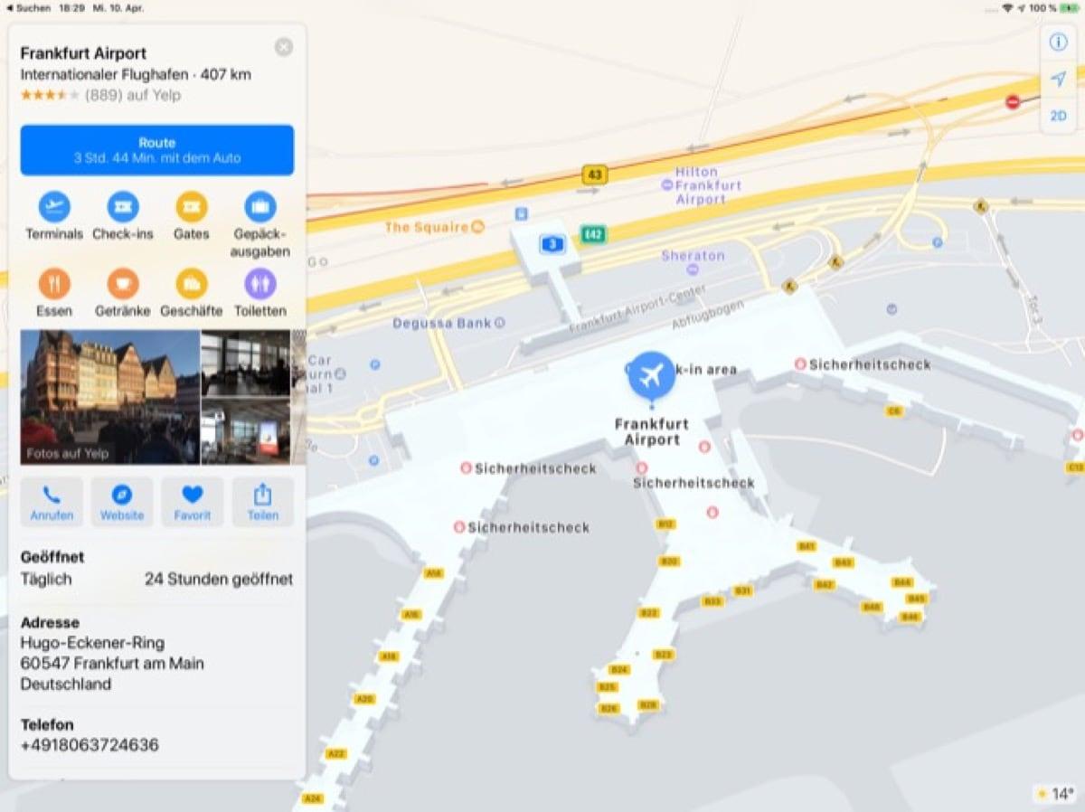 Flughäfen Deutschland Karte.Apple Karten Ergänzt Indoor Karten Für Frankfurter Flughafen