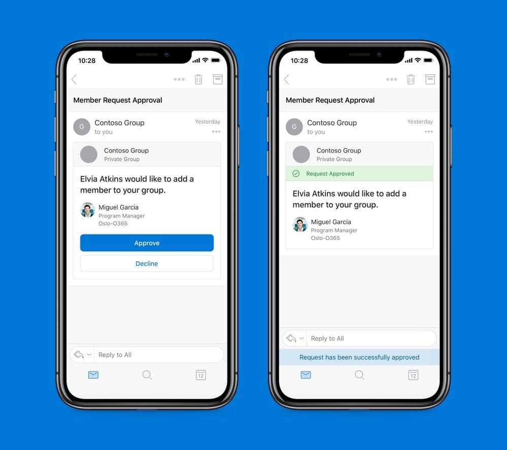 Microsoft Outlook für Android und iOS bekommen Actionable