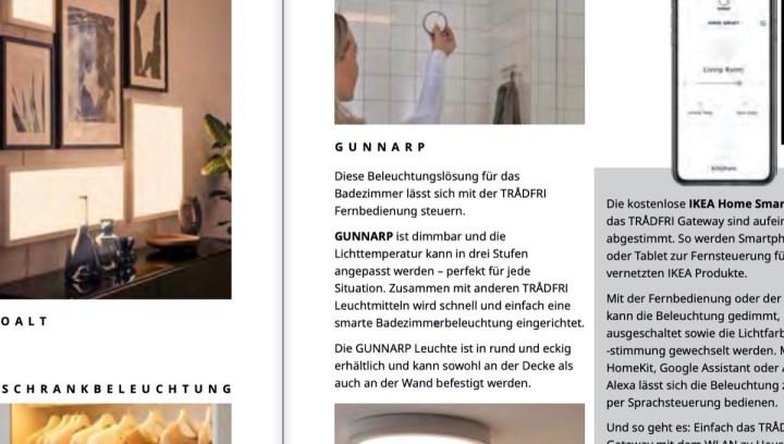 IKEA GUNNARP: Neue Smart-Home-Leuchte im Anmarsch