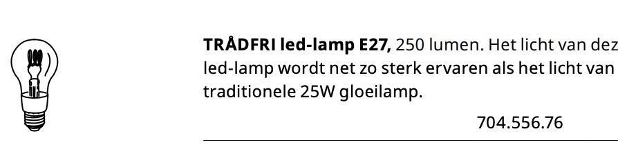 Lampe Mit Sockel Kommt E27 Filament IkeaSmarte IED92WH