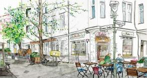 Illustration des Cafés Fiaker